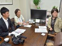 テレビの取材で札幌本社相談室にて撮影がありました♪
