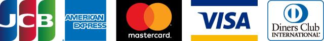JCB AMECICAN EXPRESS mastercard VISA Diners Club INTERNATIONAL